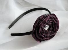 Purple Flower Headband. $8.00, via Etsy.