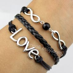 Silver love bracelet with bead infinity wish bracelet by mooli, $4.59