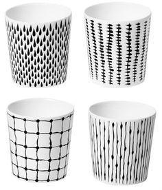 Mugs & Cups from Rörstrand, Arabia, Marimekko, Iittala, Royal Copenhagen Porcelain Pens, Porcelain Ceramics, Swedish Design, Nordic Design, Ceramic Cups, Ceramic Pottery, Sharpie Art, China Painting, Marimekko