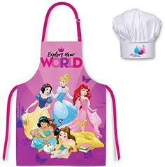 Disney Princess Kids Apron Chef Hat Set Princess Childrens Cooking Baking Aprons For Boys Girls Boy And Girl Shared Bedroom, Boy Or Girl, My Little Pony Twilight, Childrens Aprons, Cute Bedroom Decor, Disney Princess Dolls, Kids Clothes Sale, Paper Flower Decor, Baby Doll Accessories