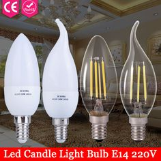 1pcs Edison Glass Lamps Led E14 Filament Ampoule Led Candle Lights Energy Saving Bulb Home Lighting 220V 2W 3W 4W 5W Lampada Led