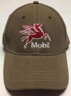 5ab33219 Mobil Hat Oil Gas Oilfield Petroleum Cap Pegasus Irving Texas Gasoline Auto  TX #CapAmerica #