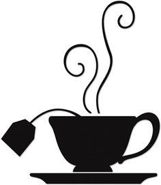 silhouette tea cup