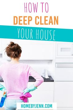 Wondering how to deep clean your house? These simple tips will make all those germs go away! Not too mention, cleaning will help you declutter as well! Don't feel overwhelmed by the thought of spring cleaning! Instead, put it into an easy cleaning checklist so you can tackle areas of your home one by one! These easy tips will have you not dreading cleaning your home any longer and having you gear up to tackle the rest of the house. #cleaning #DIY #springcleaning #cleaningchecklist #deepclean via Cleaning Diy, Deep Cleaning Tips, Cleaning Checklist, Spring Cleaning, Cleaning Routines, Daily Routines, Cleaning Cabinets, Cleaning Walls, Clean My House