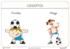 Recursos para el aula: Conceptos arriba y abajo Family Guy, Education, Comics, Fictional Characters, Teaching Resources, 4 Year Olds, First Grade Math, Kids, Comic Books