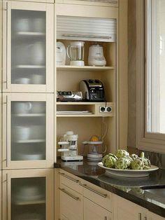 45 Good Smart Small Kitchen Design Ideas - Smart House - Ideas of Smart House - 45 Good Smart Small Kitchen Design Ideas Kitchen Room Design, Kitchen Cabinet Design, Modern Kitchen Design, Kitchen Layout, Interior Design Kitchen, Kitchen Decor, Kitchen Cabinets, Kitchen Ideas, Kitchen Storage