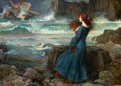 Miranda and the Tempest - John William Waterhouse, 1916