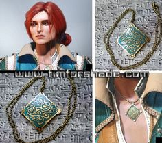Triss Merigold of Maribor colored amulet from game Witcher III Cosplay Tutorial, Cosplay Diy, Casual Cosplay, Cosplay Ideas, Triss Cosplay, Triss Merigold Cosplay, Witcher Art, The Witcher, Cool Costumes