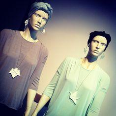 YO ZEN Paku Paku and Swan jewelry on mannequins