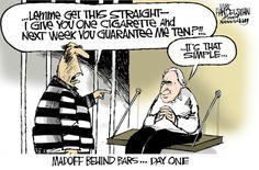 Economic Cartoons: Madoff Behind Bars