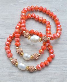 PULSERAS : PULSERA NARANJA  #JewelryIdeas