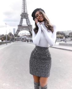 Cute Skirt Outfits, Cute Fall Outfits, Winter Fashion Outfits, Girly Outfits, Stylish Outfits, Classy Outfits For Teens, Fashion Fashion, Fashion Ideas, Fashion Tips