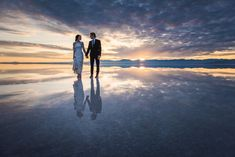 Fotos de casamento capturadas em um deserto de sal nos EUA   Estilo