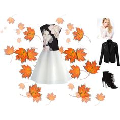 flowers and fall by katie-lutz on Polyvore featuring Ted Baker, LE3NO, Chicwish and Silvana