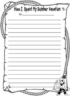 003 Essay Writing My Summer Vacation Free English Worksheet