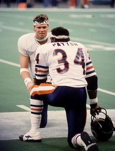 Jim McMahon and Walter Payton