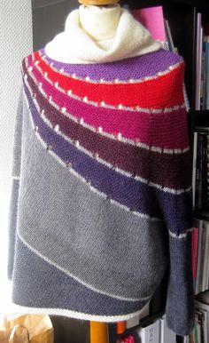 """Nørklekonen: Ponchosweater  Designet af Stephen West og hedder """"Enchanted Mesa"""". Jeg kan godt lide """"hans krøllede hjerne"""" og de designs, der kommer ud af det ;-)"""