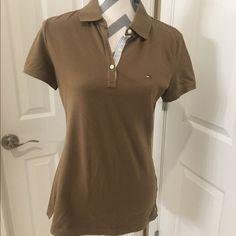Brown Tommy Hilfiger shirt Tommy Hilfiger shirt in brown Tommy Hilfiger Tops Blouses