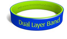 Dual Layer Debossed Wristbands