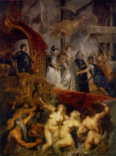 L'arrivée de Marie de Medici à Marseilles - Rubens  another favorite of mine...cannot wait one day to see these painting in the Louvre