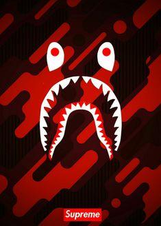 Bape Wallpapers Iphone Shark Supreme Logo Wallpaper Tumblr