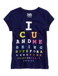 Girls Clothing | Eye Chart Graphic Tee | Shop Justice
