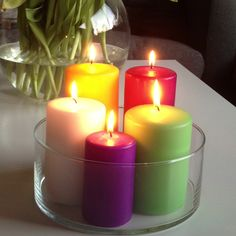 Easter's in for a colourful one! Candle Art, Saturday Morning, String Lights, Pillar Candles, Jars, Container, Night, Decoration, Projects
