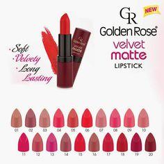 Golden Rose Velvet Matte ruževi SVE NIJANSE - recenzija, swatchevi...