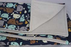 Baby Blanket - Whale Flannel Blanket by TheWakingHours on Etsy