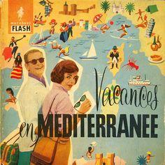 Vacations in the Mediterranean #travel #ephemera 1960s