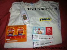 MAIL CALL! First freebies of 2017 in the mail today. Did you receive anything? Rain-X T-shirt, Metamucil Samples, Axe Deodorant, And FREE Brazi Bites Coupons.