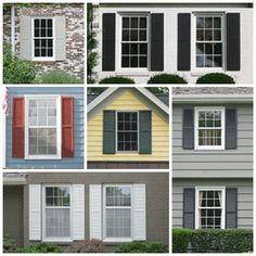 Exterior Window Trim Ideas with Shutters | Precious Decorative ...