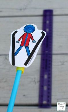 Ski Jumping Straw Rockets #winterolympics #olympics #skiing #kidsactivities