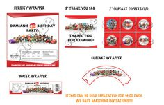 Disney Infinity Birthday Party Package  by PreciousPartyInvites, $16.50