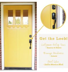 Love this front door and the color.  Love that it's painted the same color on the inside and the outside.
