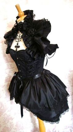 Gothic Steampunk Bustle Skirt BURLESQUE   Goth Lolita BY Gothic Burlesque. $55.00, via Etsy.