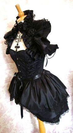 Gothic Steampunk Bustle Skirt BURLESQUE   Goth Lolita BY Gothic Burlesque. $55.00, via Etsy.