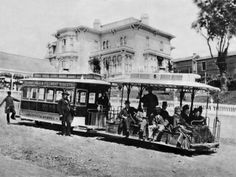 California Street Cable Railroad, 1882, San Francisco