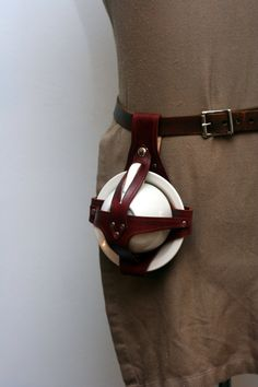 Brown Leather Teacup and Saucer Holster by Versalla on Etsy