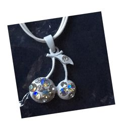 My Cherries Pendant necklace BNIB white by ! Size  for £1.00. Check it out: http://www.vinted.co.uk/womens-accessories/necklaces/6526919-cherries-pendant-necklace-bnib-white.