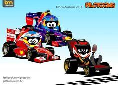 formula one cartoons | ... 2013 e Grand Prix Tunes 2013 - Os Cartoons da F1 - Fórmula 1, RTP