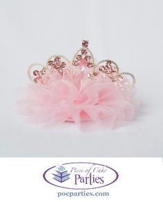 Princess tiara.  By Piece of Cake Parties.  Charming.  Effortless.  Affordable.