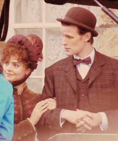 The Doctor and Clara. love her hair