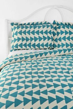 Blue Arrowhead Pillow Set at Urban Outfitters