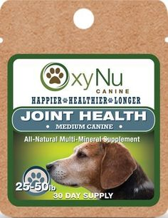 OxyNu Canine Joint Health >>> Check this awesome product by going to the link at the image. (This is an Amazon affiliate link)