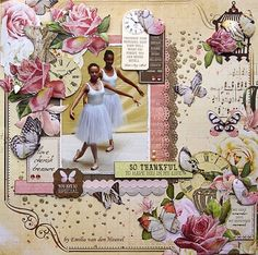 Kaisercraft's Mademoiselle paper line MI-Just-Because Kids Scrapbook, Scrapbook Albums, Scrapbooking Layouts, Scrapbook Cards, Digital Scrapbooking, Ballet Performances, Dancing In The Rain, Pink Brown, Gallery Wall