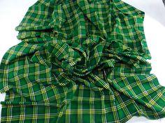 The Original African Masai Shuka Blanket Crafted Maasai Cloth Acrylic Fabrics For Make an Outfit Tanzania Green Masai Shuka Fabrics Gift NEW