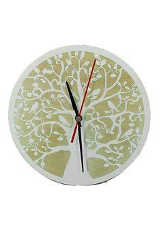 """Lebensbaum Uhr aus Holz  Graviert-"""" Symbol der Kosmischen Ordnung"""". Wanddeko Holzdeko, Wandbild Dekoration Deko Geschenk für Geburtstag Hochzeit Muttertag Weihnachten Baum des Lebens"""