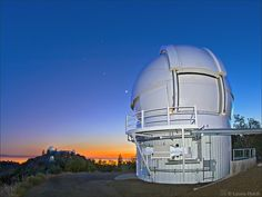 Lick Observatory on Mount Hamilton above San Jose CA galaxy