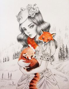 Julie Filipenko #art #drawing #fox
